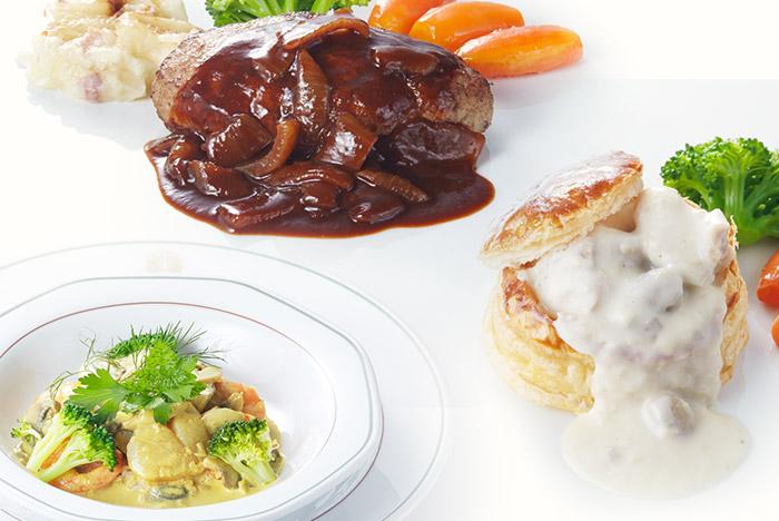 ザ・カッフェ 魚料理・肉料理メニュー写真